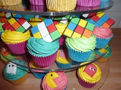 80's themed cupcake tower by Sassa's Cakes & Cupcakes, via Flickr