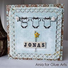 Beautiful baby card made with #GlueArts U Cut It Foam and our Glue Glider Pro by Designer @Ania Lexander!