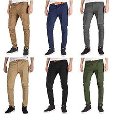 ITALY MORN Men Chino Cargo Jogger Pants Casual Twill Khakis Slim fit Black  at Amazon Men s Clothing store  be86d3d9731