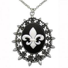 NCIS Abby Fleur de Lys Pendant Necklace