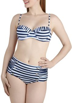 Summertime goal... I normally don't like two piece bathing suits but this one is adorable.  Sweet Skygazing Swimsuit Top   Mod Retro Vintage Bathing Suits   ModCloth.com