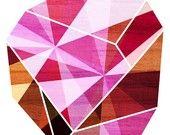 Beautiful geometical Amethyst print by Tabitha Brown