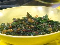 Swiss Chard and Golden Raisins from FoodNetwork.com
