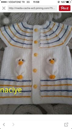 "diy_crafts- ""Discover thousands of images about Bebek yele"" Knit Baby Dress, Baby Dress Patterns, Project S, Baby Knitting, Frocks, Diy Crafts, Crochet, Sweaters, Dresses"