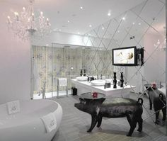 Omgosh. The bathroom in the 'princess'-themed suite - Kameha Grand Bonn