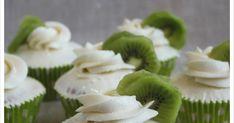 Cupcakes de kiwi con merengue suizo, muy fresquitos y ligeros