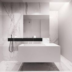 Minimal bathroom by Tamizo Architects Mateusz Kuo Stolarski. Bathroom Spa, Bathroom Toilets, Bathroom Interior, Bathroom Ideas, Bathroom Mirrors, Bathroom Cabinets, Bathroom Fixtures, Minimal Bathroom, Modern Bathroom