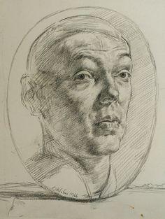 Werner Tübke – Selbstbildnis, 1966, Graphit auf Papier