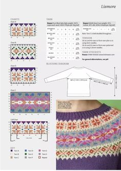 "Мобильный LiveInternet ""The Knitter"" 2017 Fair Isle Knitting Patterns, Knitting Machine Patterns, Fair Isle Pattern, Knitting Charts, Knitting Stitches, Knitting Designs, Knit Patterns, Baby Knitting, Knitting Tutorials"