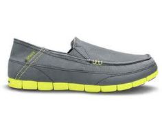 Crocs Men's Stretch Sole Loafer | charcoal/citrus | Crocs Official Site