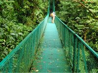 Costa rica is a tropical country and is very mountainous. Its climate is divided into two seasons, the dry season and the wet season. There are lots of rain forests and wet weather.  The mountains (which are mostly above 4000 ft above sea level) affect costa rica's weather everyday.
