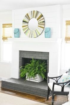 Warm your house with our big choice of indoor fireplaces. Store electrical fire places, gas fireplaces, fireplace inserts, artificial fire places, and more. Decor, Home, Empty Fireplace Ideas, Build A Fireplace, Summer House, Farmhouse Fireplace, House Tours, Fireplace, Fireplace Makeover