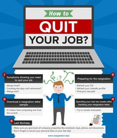 Resignation letter sample Planning to quit your job? You might want to download a resignation letter sample that you can easily customize for your needs. Available in 3 file formats. http://resignation.tips/