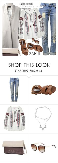 """""""Zaful"""" by teoecar ❤ liked on Polyvore featuring Anine Bing, Steve Madden, Calypso St. Barth and zaful"""