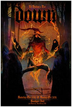 It doesn't get more metal than this...#gigposter for #Down by Vance Kelly.