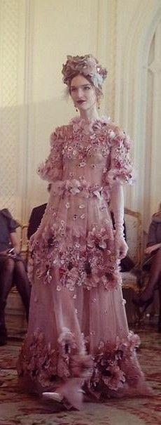 Dolce & Gabbana Alta Moda (Couture) Spring 2014: Floral Explosion <3