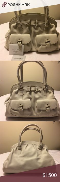 Christian Dior Shoulder Bag - BRAND NEW comes with dust bag. - Color: Ivory  - This Handbag is beautiful.!!!!! Nice to wear for the upcoming warm months.! Lots of space. Nice detail.! Add this to your closet.!!  - Bag Strap Length 6 1/2 inches  - Bag Length 12 inches (not including strap) - Bag Width 17 inches  - Please Read Description & View Pics.!!! 📸📸 - Any Questions? Just Ask.!! 😊😊 - Thanks for looking.!! Dior Bags Shoulder Bags