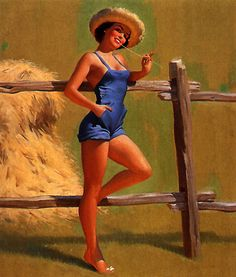 farm girl pin up Pin Up Vintage, Retro Pin Up, Cowgirl Pictures, Vintage Ball Gowns, Up Theme, Rockabilly Pin Up, Pin Up Photography, Pin Up Dresses, Pin Up Art