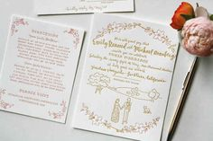 In this case, more is more. The vines + the drawing + the font = a memorable invitation.