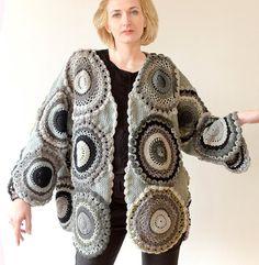 Plus Size kleding jas vrouwen vest trui grijze Gray door subrosa123