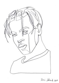 """Gaze 418″, continuous line drawing by Boris Schmitz"