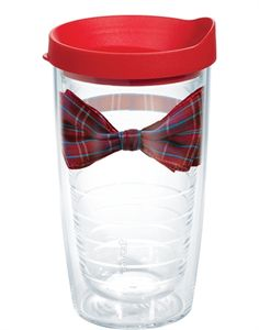Red Plaid Bow Time Tervis Tumbler... I die <3