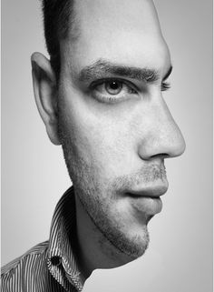 double exposure portraits in Photoshop Photomontage, Amazing Optical Illusions, Optical Illusions Drawings, Face Illusions, Optical Illusion Paintings, Art Drawings, Illusion Kunst, Art Plastique, Op Art