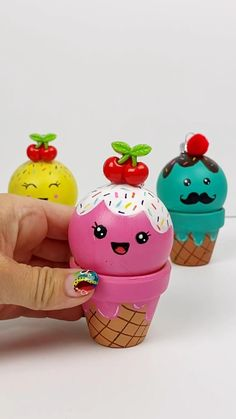DIY Ice Cream Ornaments Christmas Craft • Color Made Happy