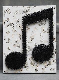 Cool idea! Nails & thread.