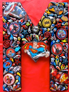 Super Heroes Art Personalized Letters Boys Room Unique by iluvPiC, $125.00