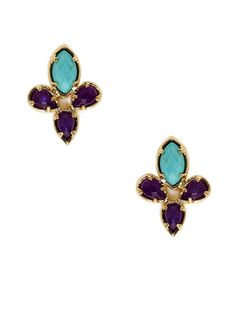 Marquise & Pear Shaped Multi-Stone Cluster Earrings by Kendra Scott Jewelry