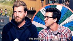 """Butthole // Rhett & Link...""""One of my favorite quotes from the show. XD"""" I Have A Crush, Having A Crush, Markiplier, Pewdiepie, Good Mythical Morning, My Tho, Lifelong Friends, Im In Love, Youtubers"""