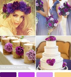 The Perfect Palette: {Party Palette}: Plum, Shades of Lavender + Antique Gold!