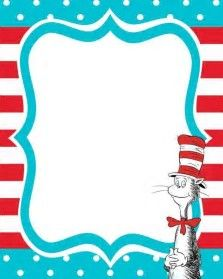 dr seuss birthday card template - get free printable dr seuss cat in the hat invitation