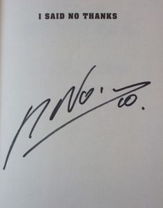 Nacho Novo's Signature (popular former striker for Glasgow Rangers, author of I Said No Thanks)