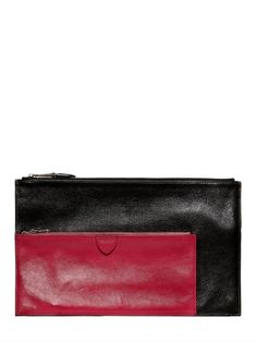 MARC JACOBS - MULTI POUCH BICOLORED LEATHER WALLET - LUISAVIAROMA - LUXURY SHOPPING WORLDWIDE SHIPPING - FLORENCE