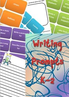 Writing prompts for grades K-2 with themed writing paper. There are so many different writing ideas, my students love these!