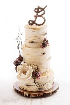 cool cake that is different than the usual very white!