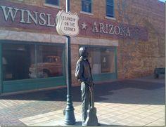 Standin on the Corner, in Winslow Arizona