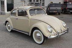 Example of Light Beige paint on a 1954 Volkswagen Beetle