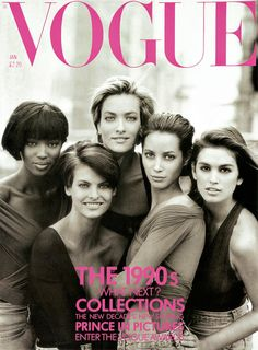 Vogue - the 90s! Photographed by Peter Lindbergh