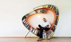bookworm - and ideal shelf for book lovers