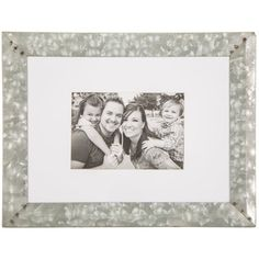 Green Tree Gallery Galvanized Tin Clip Frame with Jute String for 6 x 4 inch Photo