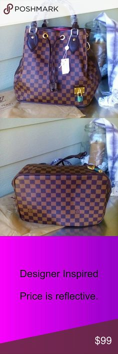 New! Fashion Damier Ebene Hobo Brand new Fashion Damier Ebene Hobo Handbag. Amazing inspirational quality. Please see ALL pics prior to purchase. Flawless bag. No rips or stains. Comes with generic dust bag. Thank you for shopping my closet. Bags Hobos
