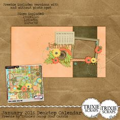 january 2016 desktop calendar using new year new me collab kit by north meets south studios