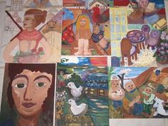 """Saatchi Art Artist Beverly Peters; Collage, """"Collage of my original acrylic paintings on canvas board."""" #art"""
