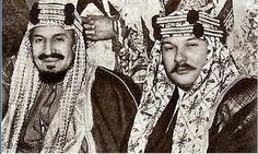 الملك فاروق ملك مصر والملك عبدالعزيز ملك السعوديه