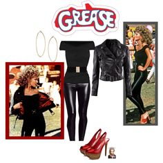"""DIY Grease Halloween Costume"" by jessicaleila on Polyvore"