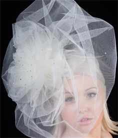 Romantic and mysterious Swarovski covered tulle.....  Pamela your photos from the first time I saw made me want to get married ( just for the accessories!)