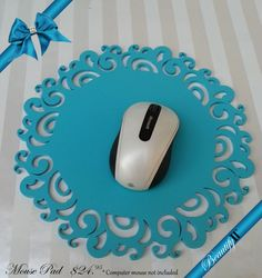 Scroll elegant feminine mouse pad by RMCinmiami on Etsy, $24.95